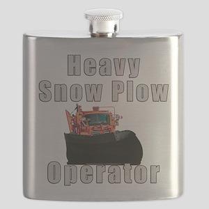 Heavy Snow Plow Operator Flask