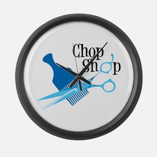 Chop Shop Large Wall Clock