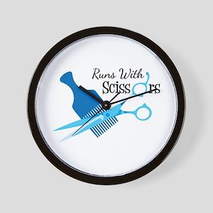 Runs with Scissors Wall Clock
