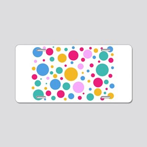 Colorful Polka Dots Aluminum License Plate