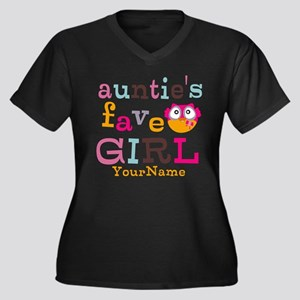 Personalized Aunties Favorite Girl Women's Plus Si