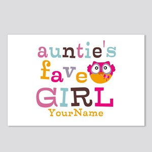 Personalized Aunties Favorite Girl Postcards (Pack