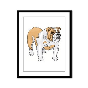 English Bulldog Framed Panel Print
