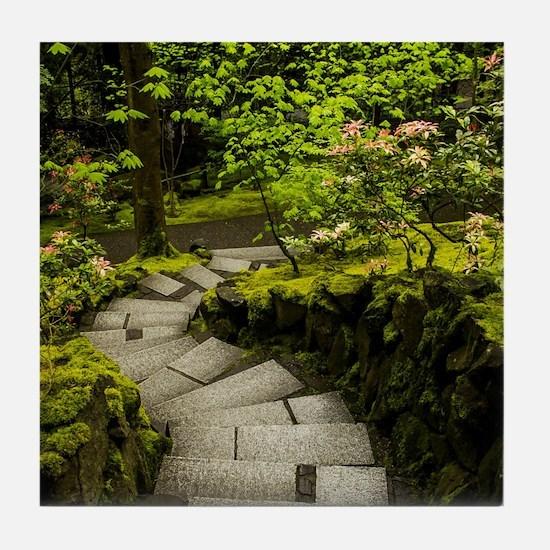 Japanese Gardens Portland, Oregon Tile Coaster