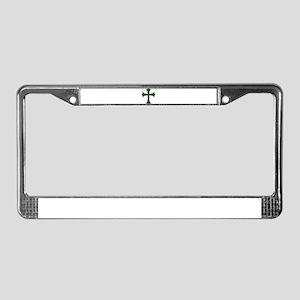 Emerald Cross License Plate Frame