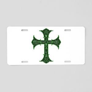 Emerald Cross Aluminum License Plate