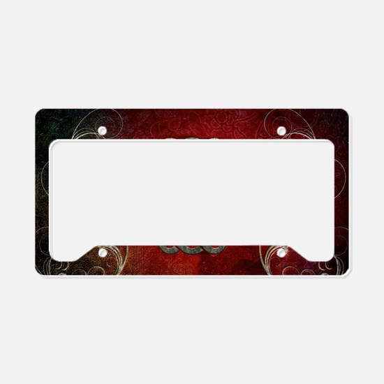 The celtic knot with floral elements License Plate