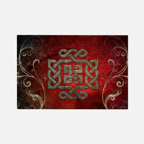 The celtic knot with floral elements Magnets