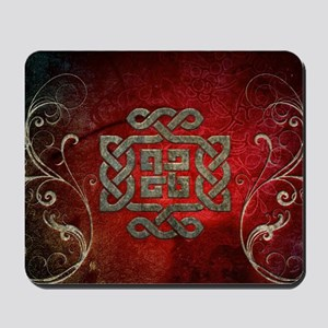The celtic knot with floral elements Mousepad