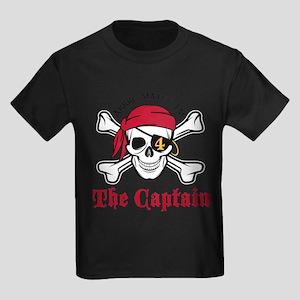 Pirate Birthday Age 4 T-Shirt