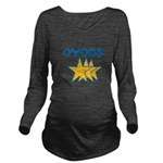 OYOOS Stars design Long Sleeve Maternity T-Shirt