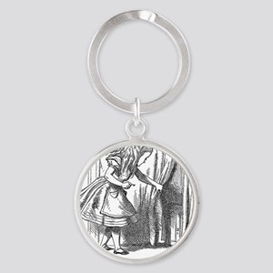 Vintage Alice in Wonderland 'lookin Round Keychain