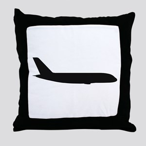 Airbus A380 (side) Throw Pillow