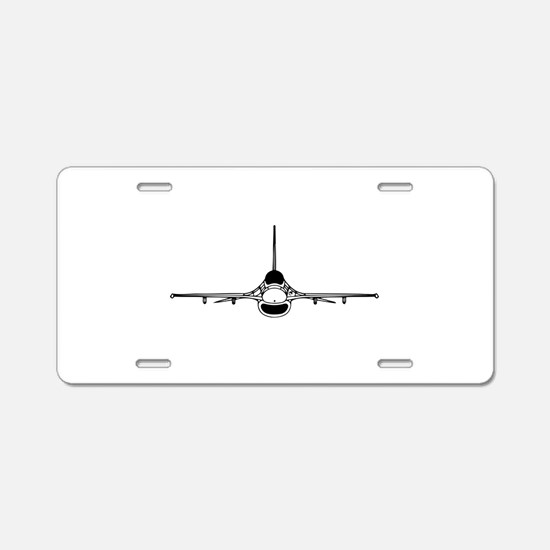 F-16 Fighting Falcon (front) Aluminum License Plat