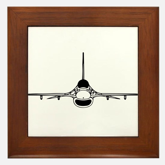 F-16 Fighting Falcon (front) Framed Tile