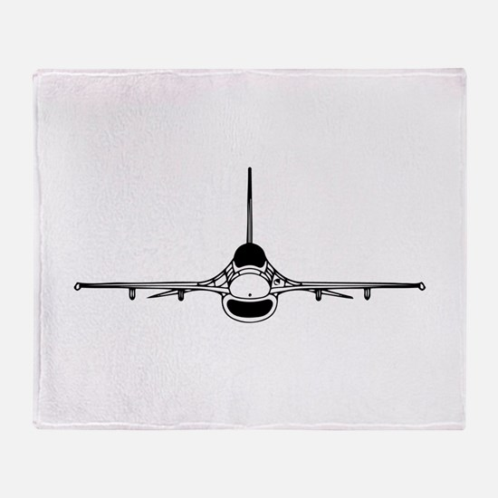 F-16 Fighting Falcon (front) Throw Blanket