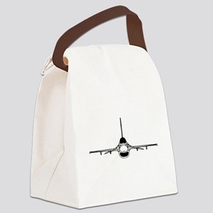 F-16 Fighting Falcon (front) Canvas Lunch Bag