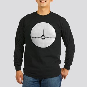 F-16 Fighting Falcon (front) Long Sleeve T-Shirt