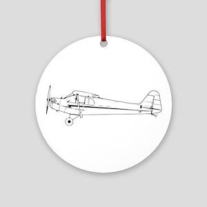 Piper J3 Cub Ornament (Round)