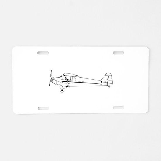 Piper J3 Cub Aluminum License Plate