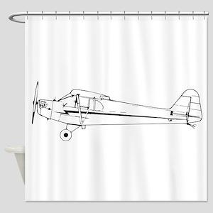 Piper J3 Cub Shower Curtain
