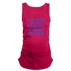 boy_june_belly.png Maternity Tank Top