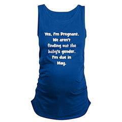 pregnant_may_trans.png Maternity Tank Top