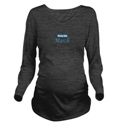 dueinmarch_blue_TR.png Long Sleeve Maternity T-Shi