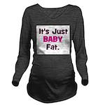 itsjustbabyfat_pink_trans Long Sleeve Maternit