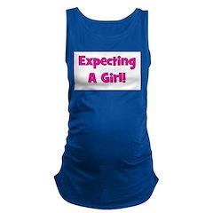 expectingagirl.png Maternity Tank Top