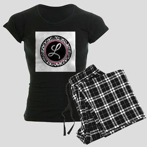 Letter L girly black monogram Pajamas