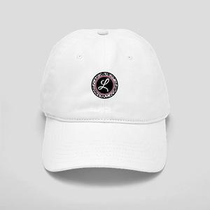 Letter L girly black monogram Baseball Cap