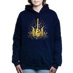 Golden Winged Guitar Women's Hooded Sweatshirt