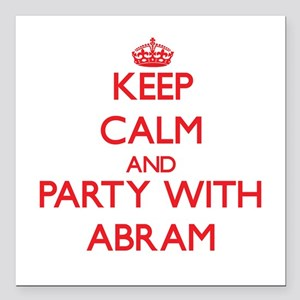 Keep Calm and Party with Abram Square Car Magnet 3