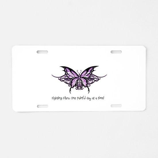 Cute Fibromyalgia Aluminum License Plate