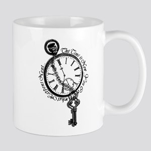 The Time Is Now! Clock And Key Coffee Mug