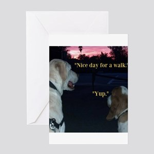Dogs on a Walk Greeting Card