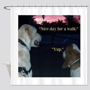 Dogs on a Walk Shower Curtain