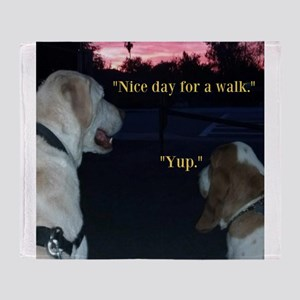 Dogs on a Walk Throw Blanket