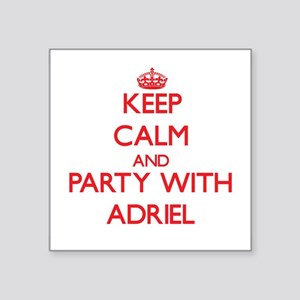 Keep Calm and Party with Adriel Sticker