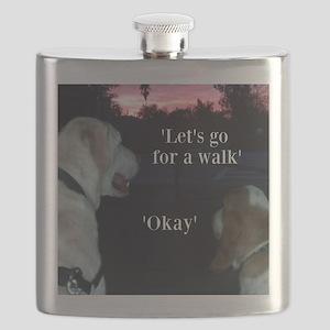 Walking Dogs Flask