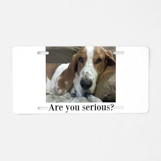 Annoyed Dog Aluminum License Plate