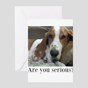 Annoyed Dog Greeting Card