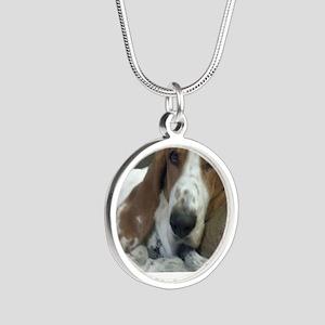 Annoyed Dog Silver Round Necklace