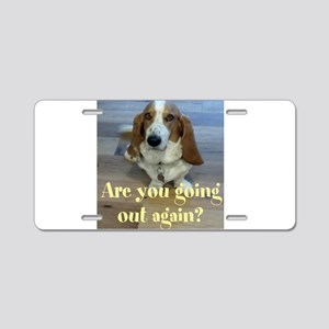 Angry Dog Aluminum License Plate