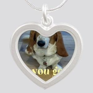 Angry Dog Silver Heart Necklace