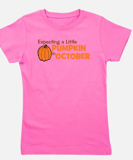 expectingapumpkininoctober.png Girl's Tee