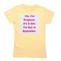 pregnant_girl_september_TR.png Girl's Tee