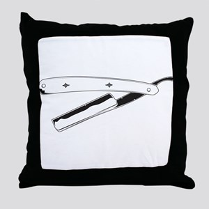 Straight Razor Throw Pillow