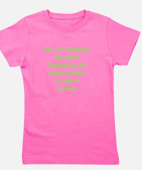pregnant_october_TR.png Girl's Tee